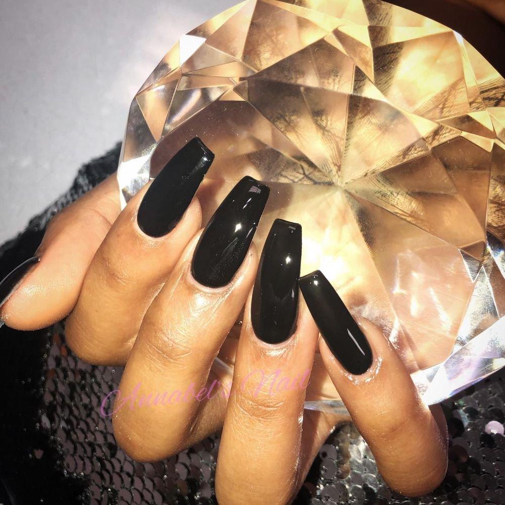 Fullset acrylic/opi black onyx gel polish - Yelp