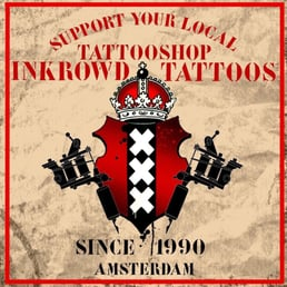Inkrowd tattoos tatoeage waterlooplein 123 centrum for Tattoo amsterdam walk in