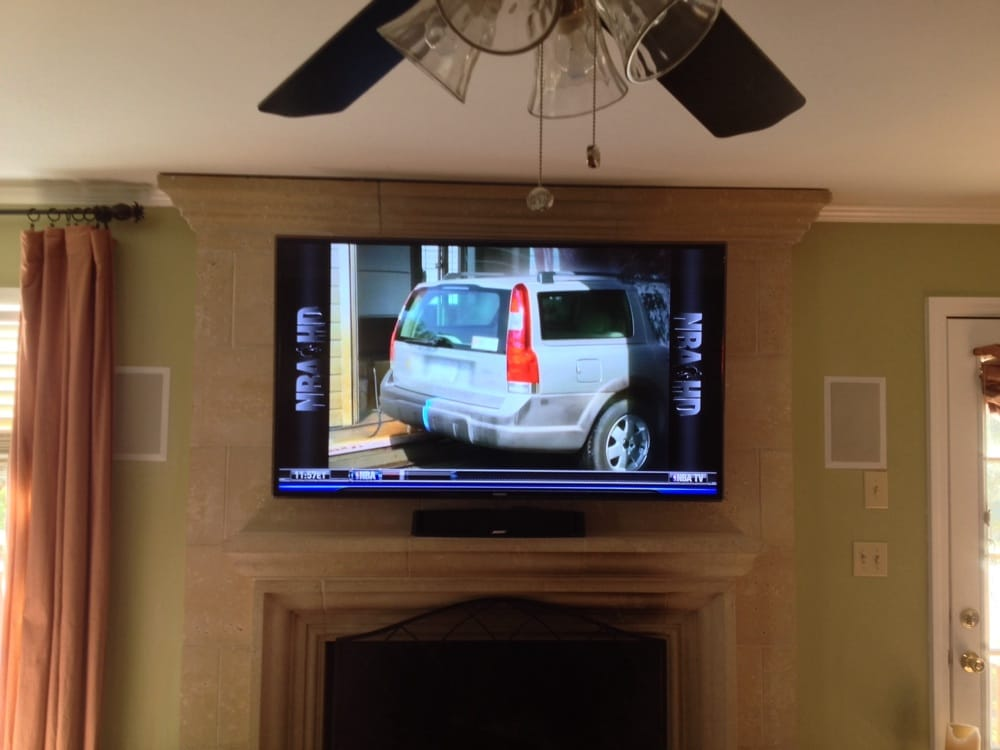 Charlotte home theater installation projector screen for Home bar installation