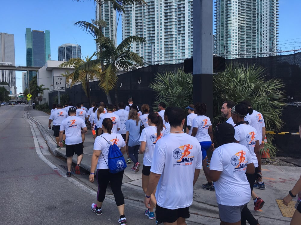 Team city of miami 2016 walking to bayfront park yelp for Miami mercedes benz corporate run