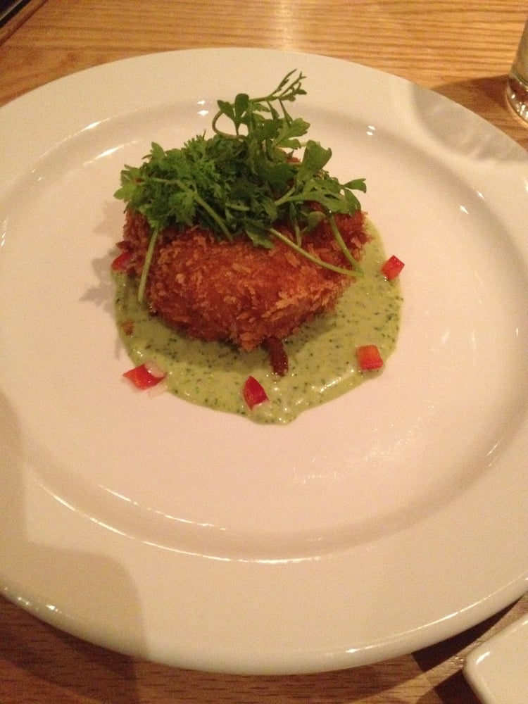 Rabbit fritter with a watercress dijonaise sauce dinner 5 for 12th ave grill open table