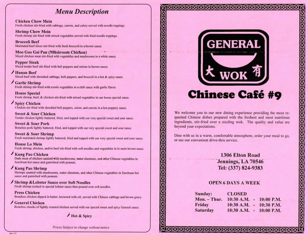 General Wok: 1306 Elton Rd, Jennings, LA
