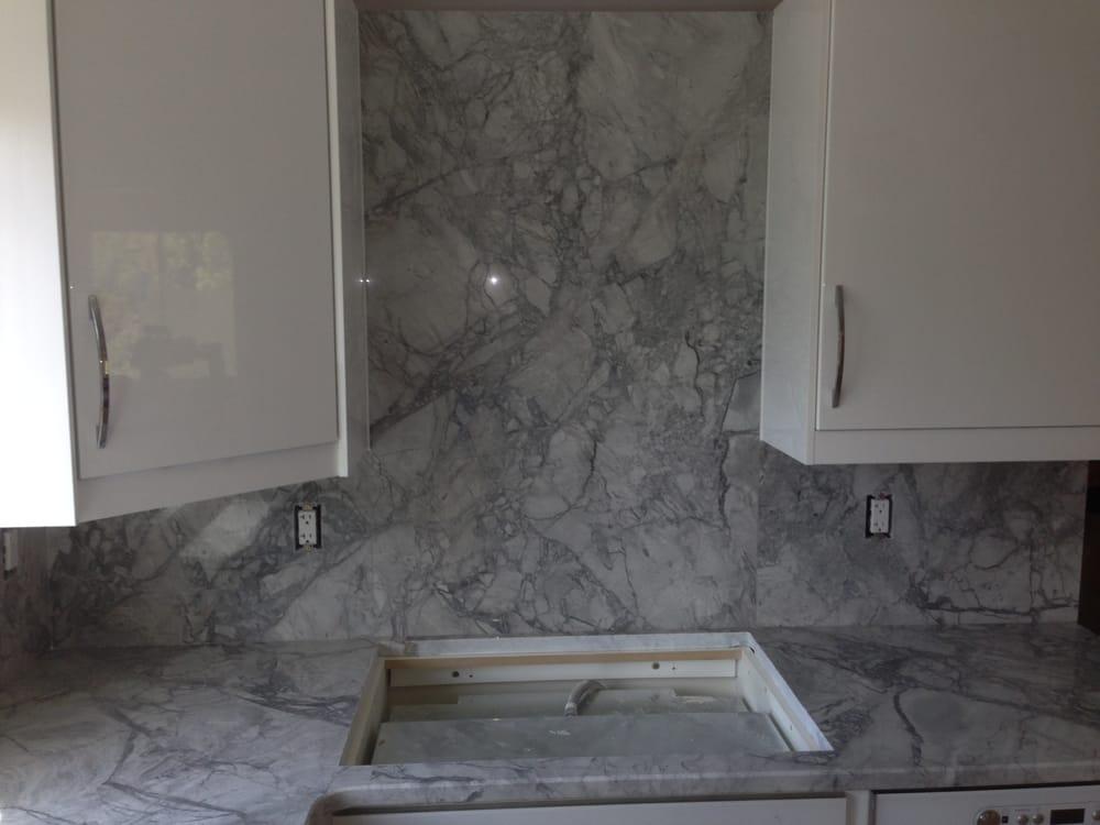 Super White Exotic Kitchen Granite Countertops With Full