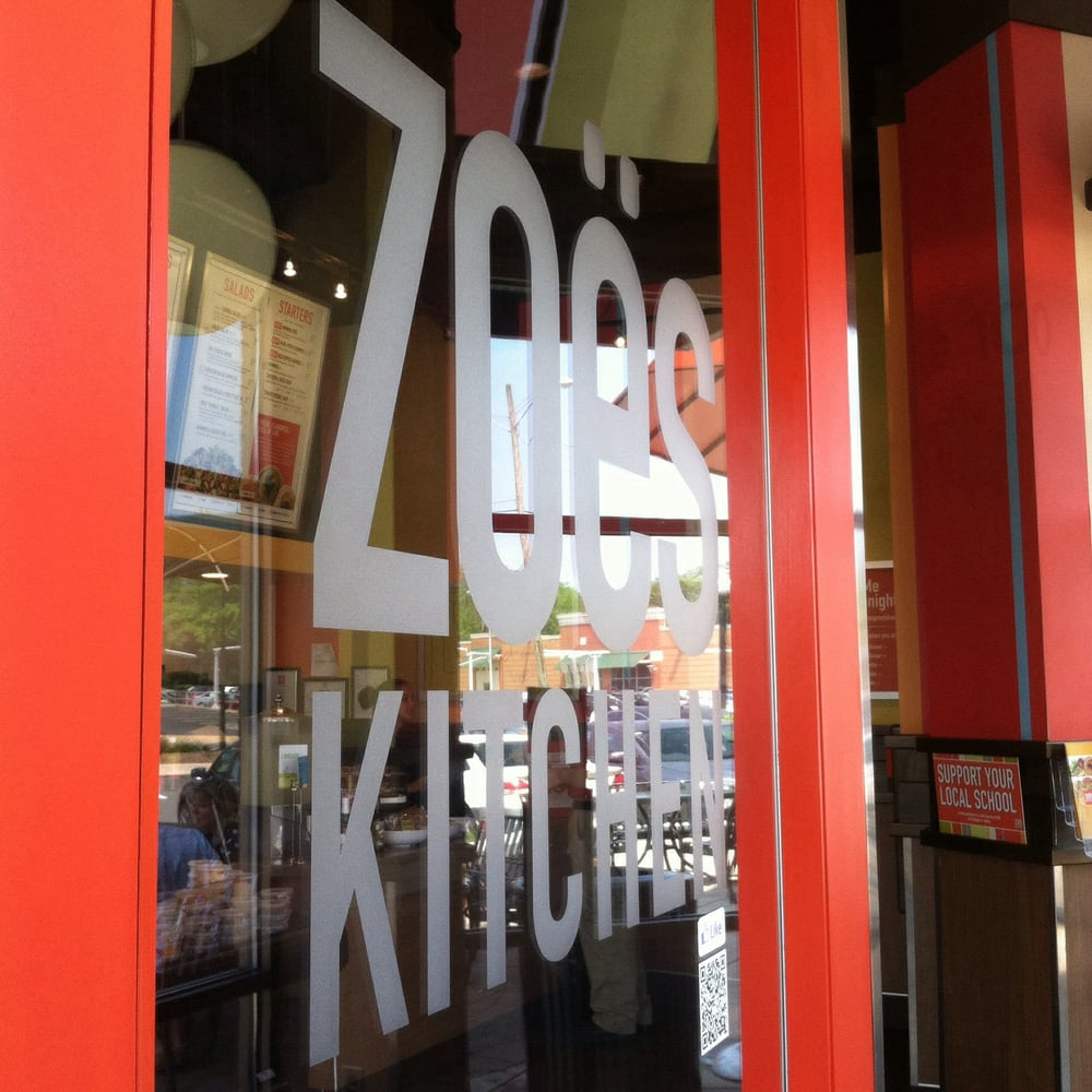 Zoes Kitchen Sign Right When You Walk In A Zoe's Kitchen Sign  Yelp