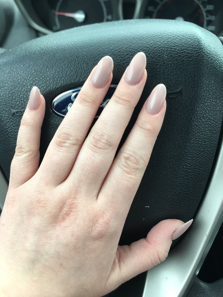 Matte gel nails! after the crazy ones I had the past 3 weeks, these ...