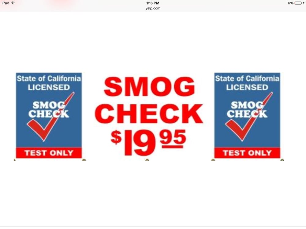 15 Minute Smog Test Only And Oil