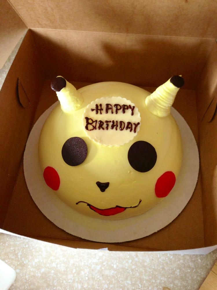 Pikachu Cake With Chocolate Happy Birthday Decoration Yelp