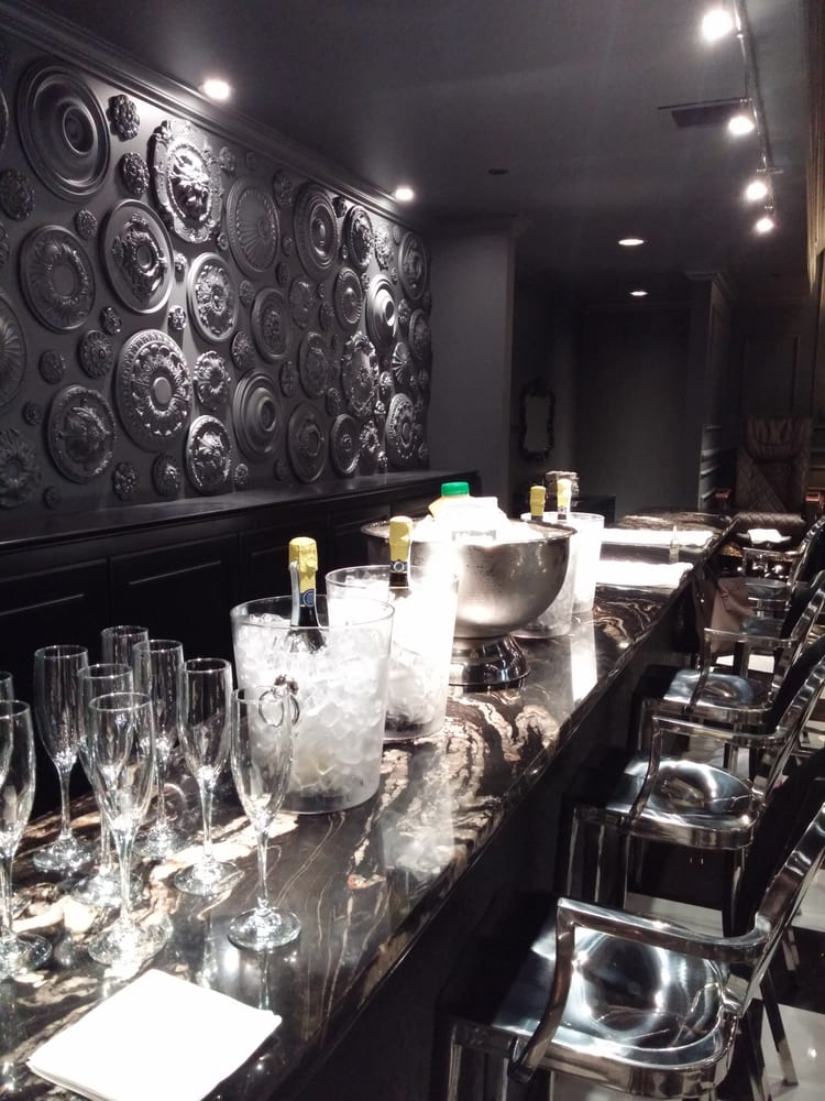 They Put Our Champagne And Juice On Ice At The Manicure Bar. The Salon Provided The Glasses And ...