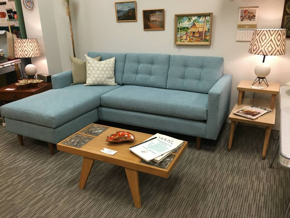 Fine Custom Mid Century Modern Sofa With Flip Chaise Soft Back Download Free Architecture Designs Barepgrimeyleaguecom