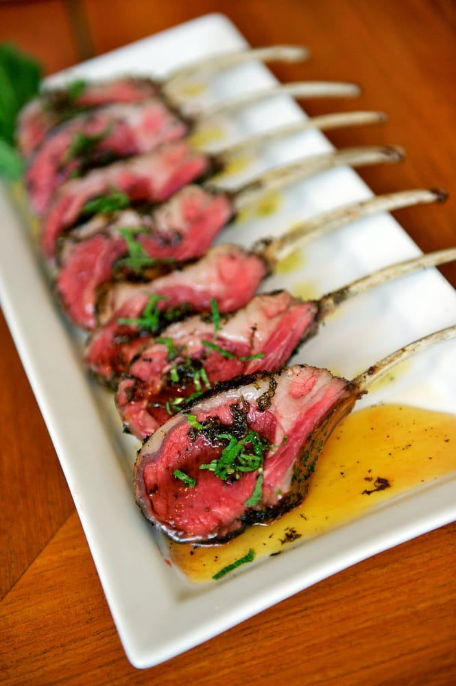 Herb Roasted Lamb Chops with Mint Gastrique - Yelp