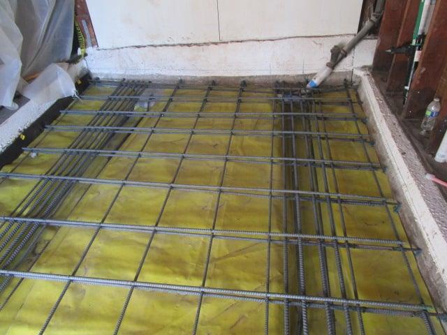 New Garage slab on grade rebar installation as per engineer
