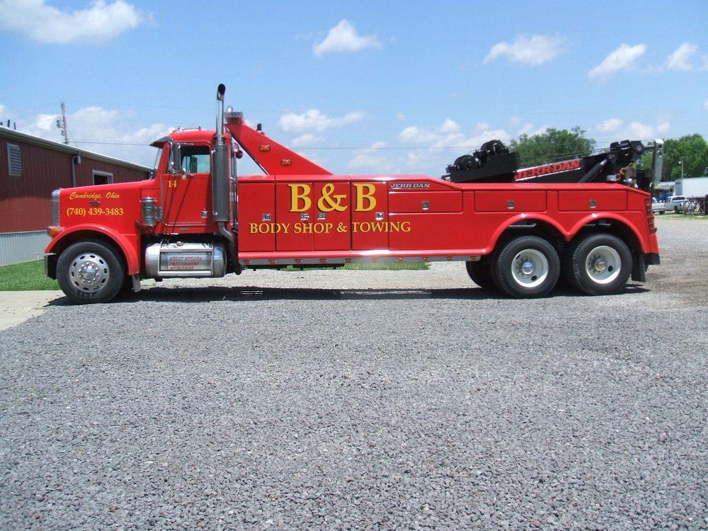 B & B Body Shop & Towing: 4374 Glenn Hwy, Cambridge, OH