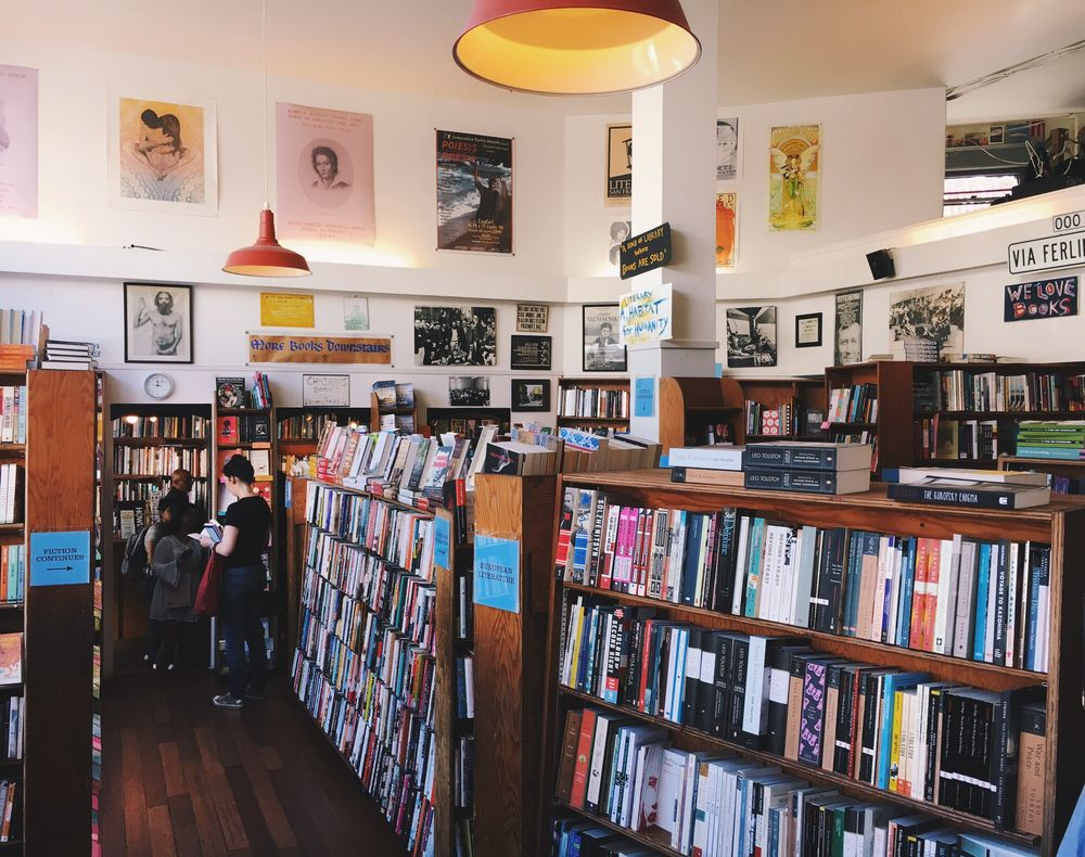 City Lights Bookstore: 261 Columbus Ave, San Francisco, CA