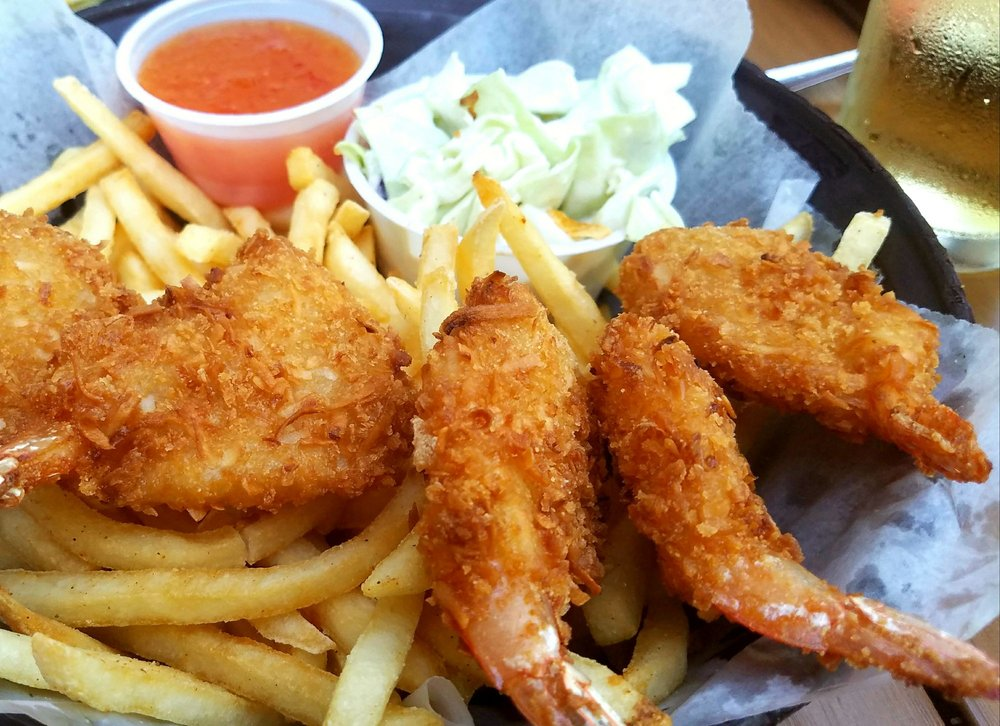 Coconut shrimp fries only good thing there yelp for Coconut s fish cafe