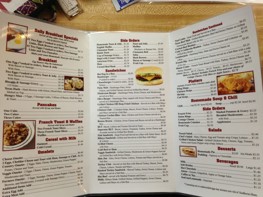 Katie S Country Cafe Menu