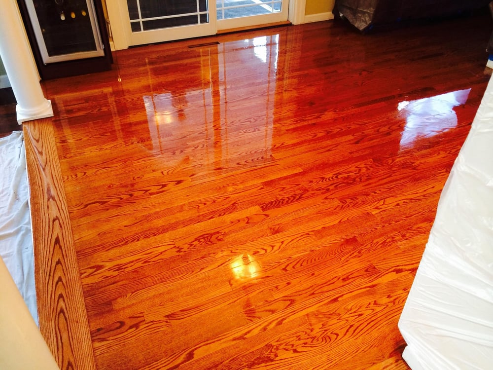 Sanded To Bare Wood Stained 3 Coats Lenmar Semigloss Polyurethane