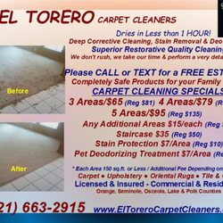 photo of el torero carpet cleaners orlando fl united states before and