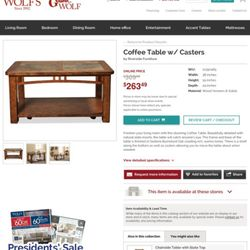 Photo Of Wolf Furniture   York, PA, United States. Coffee Table