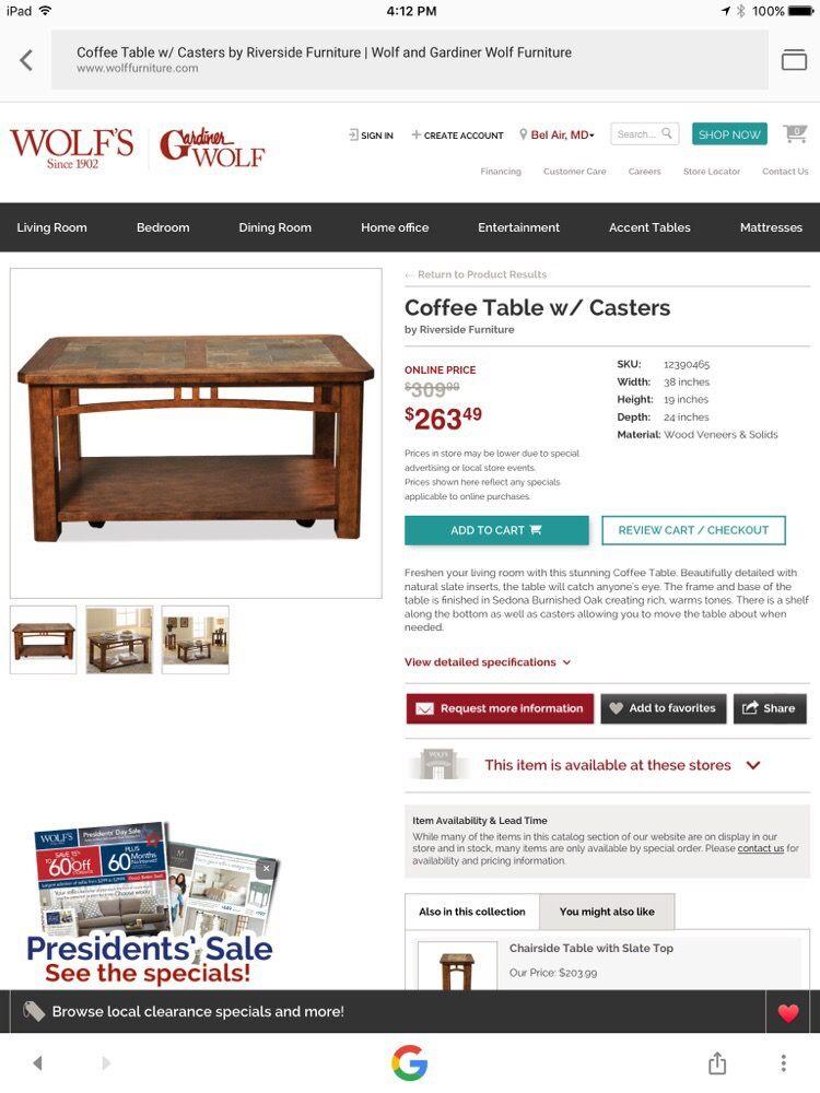 Wolf Furniture Magasin De Meuble 380 N Northern Way York Pa Tats Unis Num Ro De