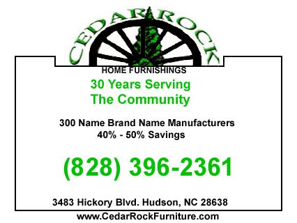 Cedar Rock Home Furnishings: 3483 Hickory Blvd, Hudson, NC