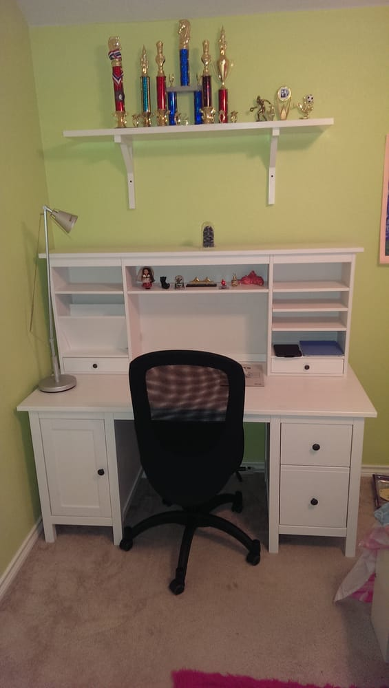 ikea hemnes desk and add on unit yelp. Black Bedroom Furniture Sets. Home Design Ideas