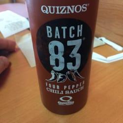 Quiznos batch 81 sauce