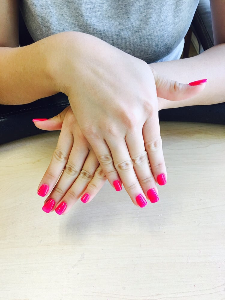 Nexgen nail . Hot pink color for summer. Love it - Yelp