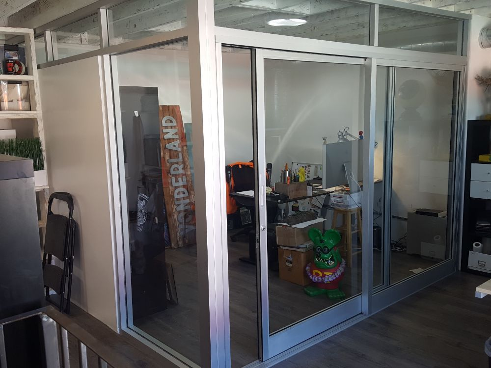 Custom Enclosed Conference Room With Sliding Glass Doors Yelp