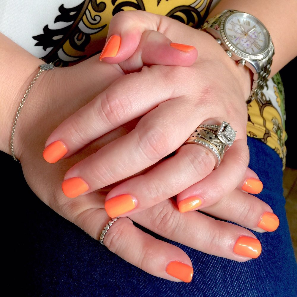 Fell In Love With This Shade Of Peachy Orange. Perfect For