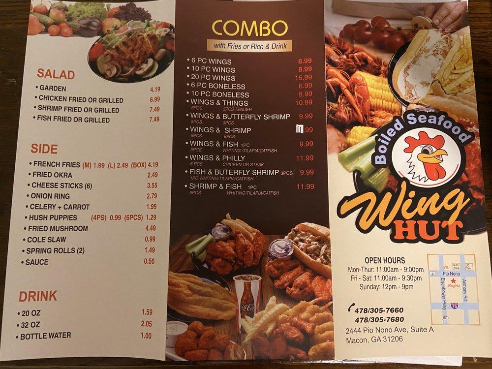 Wing Hut & Boiled Seafood: 1444 Pio Nono Ave, Macon, GA