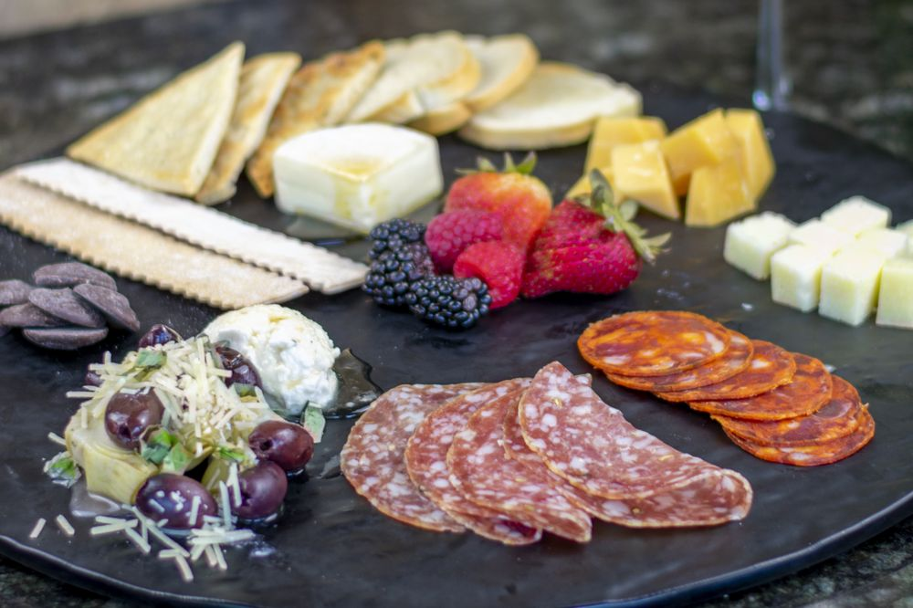 Food from DH Lescombes Winery & Bistro