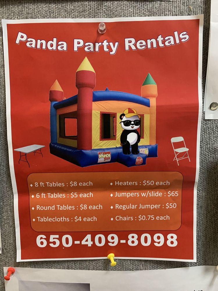 PANDA PARTY RENTALS: East Palo Alto, CA