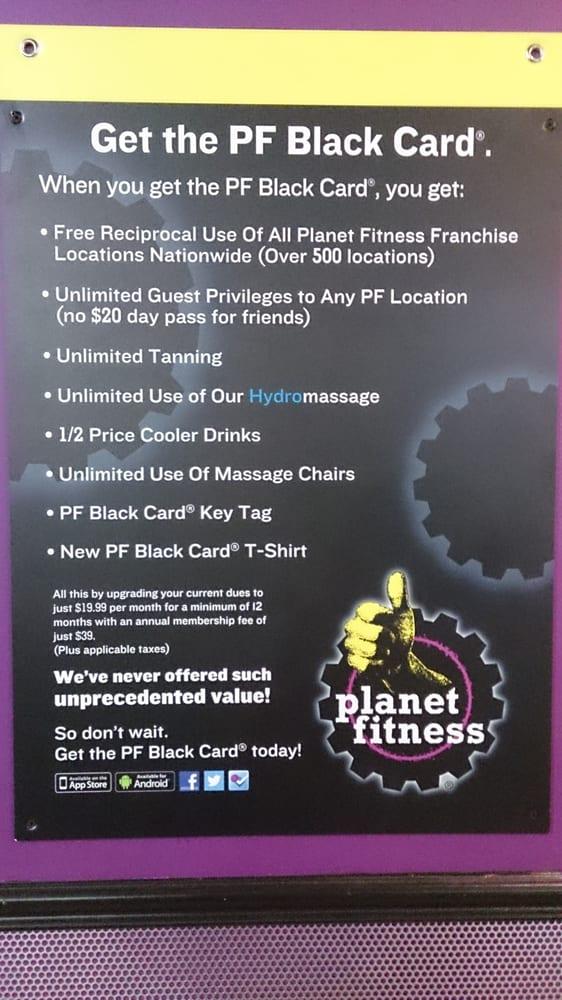 black card planet fitness deals