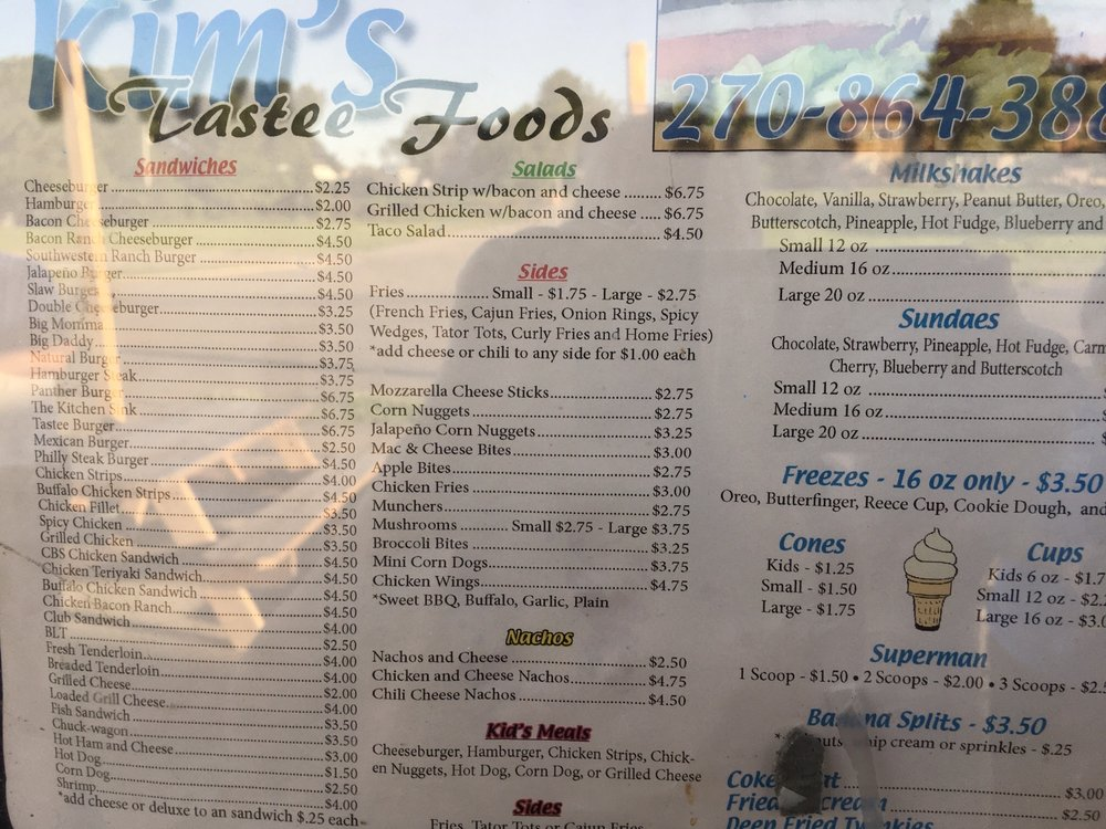 Kim's Tastee Foods: 203 Glasgow Rd, Burkesville, KY
