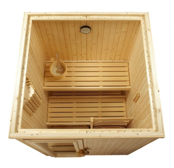 Sauna Finlandesa De Interior Modelo 2 Fabricada En Madera De Abeto - Sauna-madera
