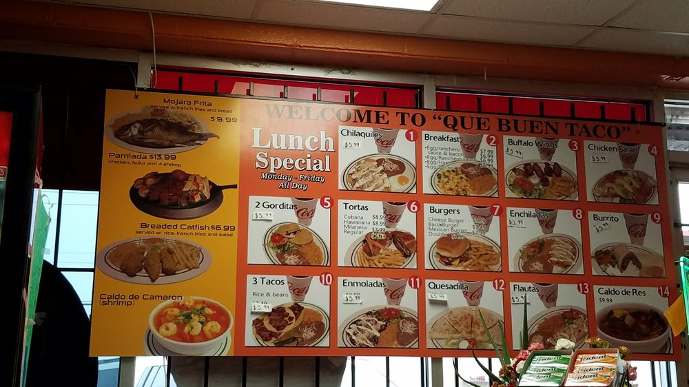 Que Buen Taco: 11931 Elam Rd, Balch Springs, TX
