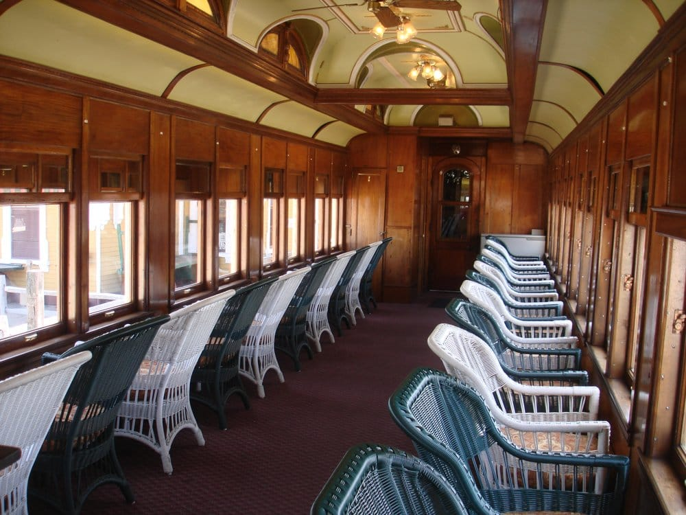 "Car City Conway >> The ""Gertrude Emma"" is a beautifully restored 1898 Pullman Parlor Observation Car on the Valley ..."