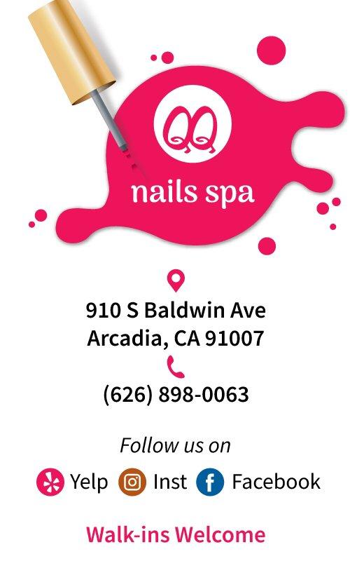 QQ Nails Spa: 910 S Baldwin Ave, Arcadia, CA