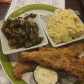 ... Bronx, NY, United States. Fried catfish with potato salad and greens