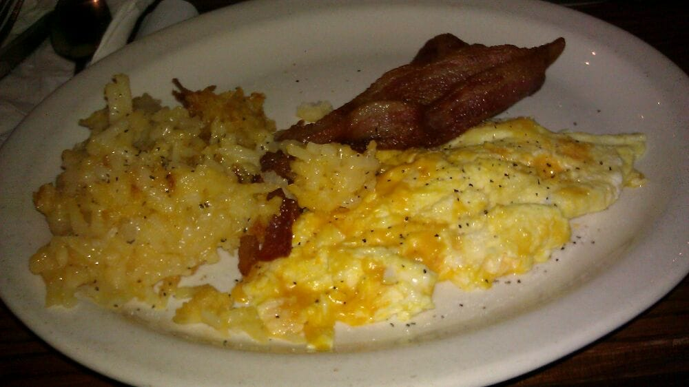 Scrambled Eggs With Cheese Hash Brown Casserole Thick