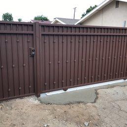 Custom Size Metal Gate And Side Amp Slide Gate Opener