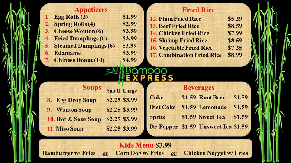 Bamboo Express: 137 Yandell Rd, Canton, MS
