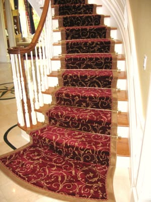 Custom Carpet Stair Runner With Rope And Outside Border Yelp