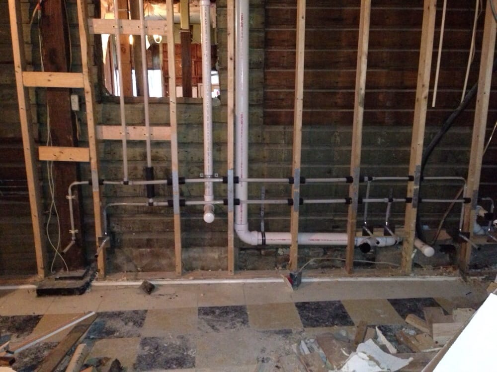 Commercial plumbing fit-out with AquaPEX plumbing system - Yelp