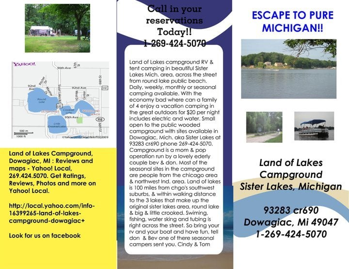 Land of Lakes Campground: 93283 County Rd 690, Dowagiac, MI