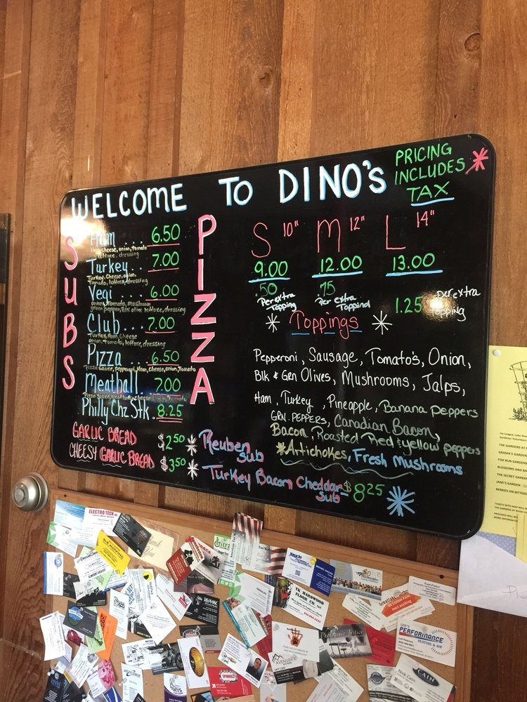 Dino's Pizza & Subs: 19 S Milwaukee St, Plymouth, WI