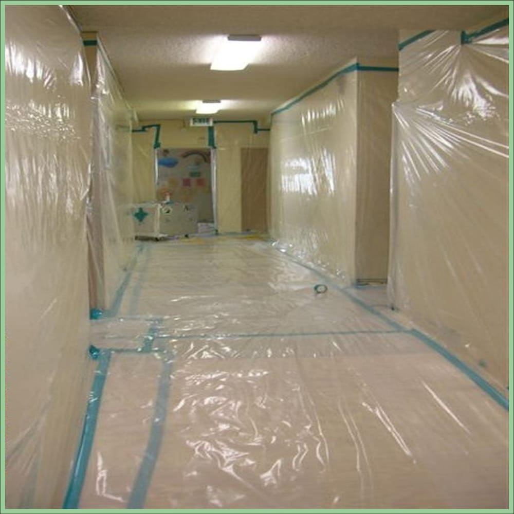 Containment Set Up for Asbestos Acoustic/Popcorn Ceiling Removal - Yelp