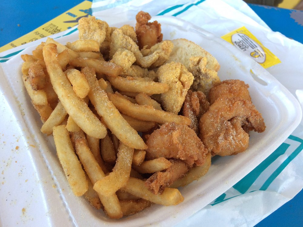 Lunch combo shrimp and catfish nuggets yelp for Sharks fish and chicken near me