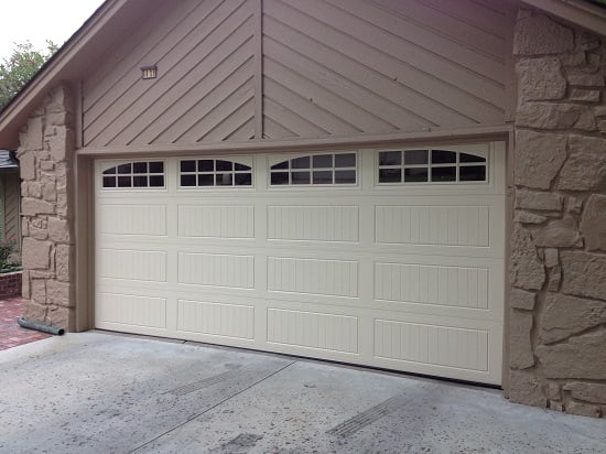 16x7 doorlink mfg 3640 in desert tan color with stockton for 16x7 garage door with windows