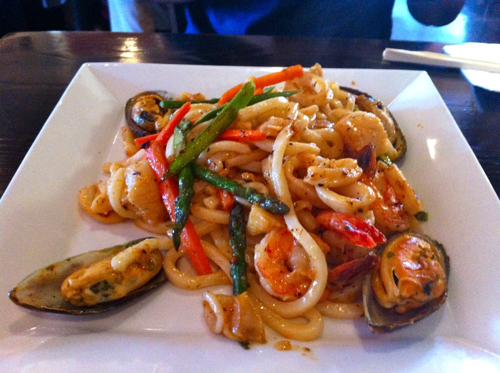 Spicy Seafood Udon Pasta - Very tasty and peppery - Yelp